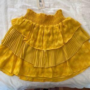 Ramy Brook Yellow ruffle mini - NWT
